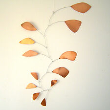 Abstract Modern Friendship Copper Leaves Hanging Mobile Museum New Free Shipping