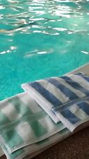 SPA POOL LEISURE BEACH.TOWEL LARGE BATH SHEET SIZE 90x150CM STRIPE IN 4 COLOURS