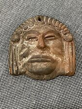 Unknown Age Pre Columbian STYLE Pottery Head / Face Figurine