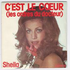 45 TOURS SHEILA  C'EST LE COEUR  CARRERE 49.101