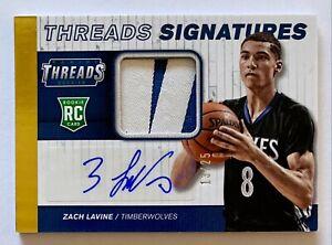 🔥2014-15 Panini Threads Rookie Threads Signatures Prime #10 Zach LaVine /25 🔥