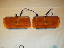1971 71 1972 72 Chevy Pickup Truck Parking Pair Park Lamp Light Assembly Amber