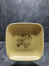 More details for shetland pony crescendo memento smll square dog plate honiton england vintage 5