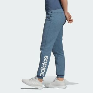 ADIDAS ESS LINEAR FLEECE PANT WOMENS BLUE - EI0672