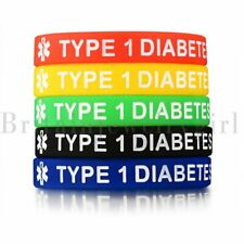 "Rubber Wristband Men Women Jewelry 7.5"" 5pcs Medical Alert Id Bracelet Silicone"