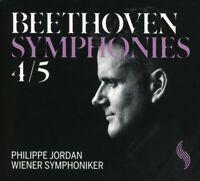 WIENER SYMPHONIKER/PHILIPPE JORDAN - SINFONIEN 4 & 5 (LIVE) - BEETHOVEN  CD NEU