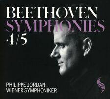 WIENER SYMPHONIKER/PHILIPPE JORDAN - SINFONIEN 4 & 5 (LIVE) - BEETHOVEN  CD NEUF