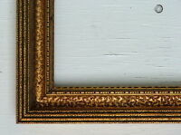 "FRAME  GOLD GILT ORNATE MID CENTURY MODERN CARVED WOOD FITS 27.5"" x 18.5"""