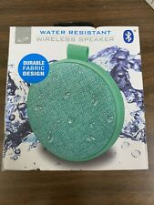 New iLive ISBW8TL Portable IPX4 Water Resistant Bluetooth Speaker System Green