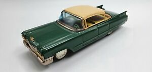 (See video) Tin Toy  Green PLAYTHING Battery Operated 1960 CADILLAC