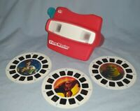 Fisher Price View Master 3D Viewer 1998 + Shrek2-ToyStory2-The Incredibles Reels