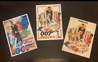 James Bond 007 Sean Connery 3x Original Programs: Japan & UK