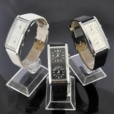 Dual Timezone For Travel SOKI Womens Dress Quartz Leather Band Wrist Watch