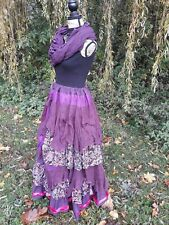QUIRKY BUSTLE SKIRT FREESIZE 8-26 STEAMPUNK VICTORIAN LAGENLOOK GYPSY ARTY