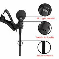 Clip On Revers Mini Lavalier Mikrofon für Iphone Smartphone Aufnahme F3X3