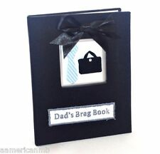 Beautiful Stephan Baby Dad's Brag Book Photo Album Holds 36 Picture Black Father