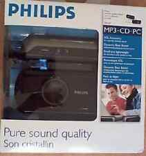Philips SBA230/37 Portable Speaker System NEW IN BOX AN ESSENTIAL ACCESSORY 4 PC