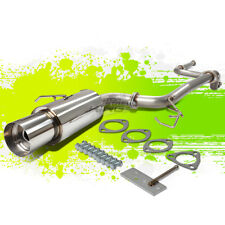 "90-93 ACURA INTEGRA STAINLESS STEEL CATBACK EXHAUST SYSTEM 4.5"" TIP DA6 JDM"