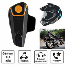 BT-S2 1000m Bluetooth Motorbike Helmet Headset Intercom Waterproof Phone Calls