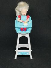 1998 McDonald Barbie eating fun Kelly in high chair
