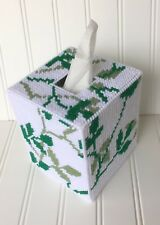Green Leaves Tissue Cover handmade Boutique size