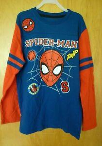 New Boys Large 10/12  Spider-Man Long Sleeve t-Shirt  Marvel