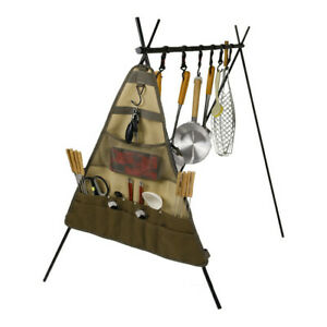 Camping Equipment Outdoor Tableware Spoon Fork Picnic Storage Hanging Bag Travel