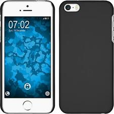 Hardcase Apple iPhone SE rubberized black Cover + protective foils
