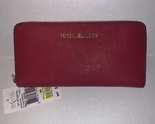 Michael Kors Women's Jet Set Travel RED Wallet Leather- NEW