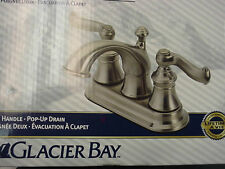 "Glacier Bay Two Handle 4"" on center Lavatory Faucet with Pop Up waste 124-453"