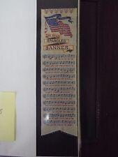 Star Spangled Banner - Silk Stevengraph Bookmark