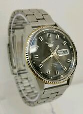 Vintage 1971 Seiko 5 Automatic Day Date 21 Jewels Gents Wrist Watch 6119-8203