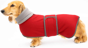 Geyecete Warm Thermal Quilted Dachshund Coat, Dog Winter Coat with Warm Fleece L