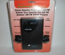 New Sealed Craig Stereo Cassette Player AM/FM Radio W/ Headphones JH6222 NOS