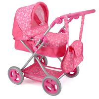 Snuggles Deluxe Pram Dolls Pushchair Buggy Fun Roll Play Toy
