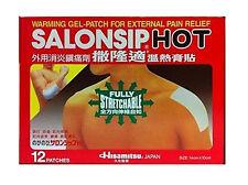 Salonsip (14cm x 10cm) 12 WARM gel patches Salonpas Made in JAPAN Free Post
