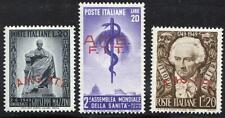 ITALY/TRIESTE 1949 MAZZINI / ALFIERI / HEALTH SC#45-46 MNH CV$51.50 MEDICINE