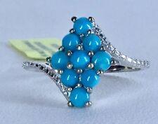 Size 9 Arizona Sleeping Beauty Turquoise Sterling Silver Ring TGW 1.10 Carats