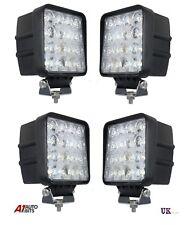 4 PCS 48W 10-30V 16 LED WORK FLOOD BEAM LAMPS NEW HOLLAND MASSEY FERGUSON JCB