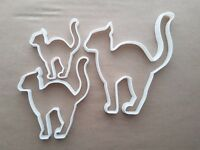 Cat Scared Halloween Shape Cookie Cutter Dough Biscuit Pastry Fondant Sharp
