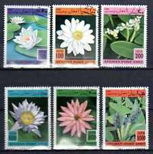 Flore - Fleurs Afghanistan (5) série complète de 6 timbres oblitérés