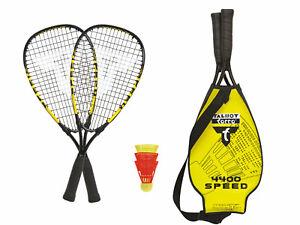 Talbot Torro Speed Badminton - Speed Badminton Set Speed4400 mit 3 Bällen,Dunlop