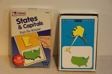 Fun To Know States & Capitals Fact Cards (1987, Trend Ent.)