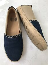 Von Dutch Aframe 8 M Womens Spadrille Flats Loafers Blue Beige Suede Slip On