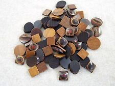 (70) Assorted Lacquered Wood Shapes ~ For Crafts / Jewelry Making