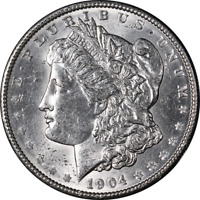 1904-P Morgan Silver Dollar Nice BU+ Blast White Great Eye Appeal Nice Strike