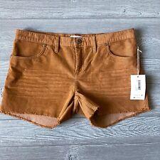 New carve design corduroy orange Shorts Womens Size 12