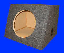 "12"" SINGLE 1.0 Cu.Ft. SLANTFRONT GREY SEALED SUBWOOFER SUB ENCLOSURE BOX"