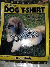 WHITE LEOPARD DOG T SHIRT, by DOGGIDUDS,  #5150