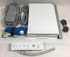 Nintendo Wii White Console RVL-001 AC AV Controller Wiimote Bundle Complete